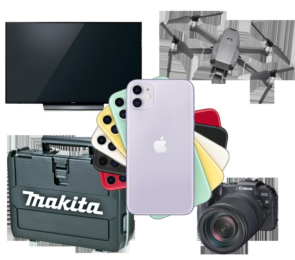 電化製品 カメラ 電動工具 楽器
